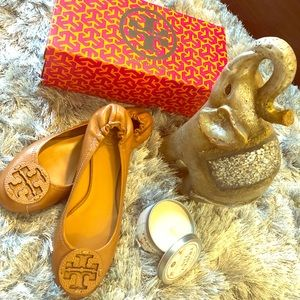 Tory Burch's iconic Reva leather ballet flats